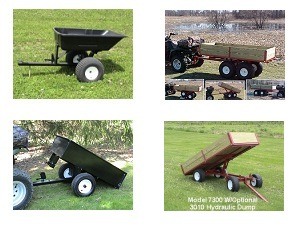 lawn trailers, carts and wagons