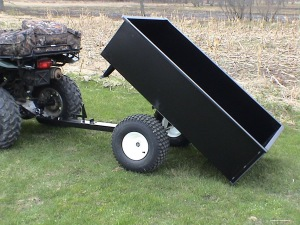 Off road dump trailers lawn carts and dump wagons by for Garden design trailer